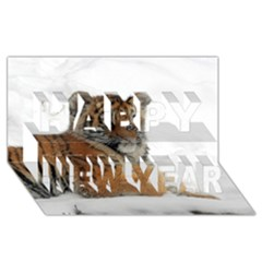 Tiger 2015 0102 Happy New Year 3D Greeting Card (8x4)