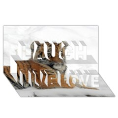 Tiger 2015 0102 Laugh Live Love 3d Greeting Card (8x4)