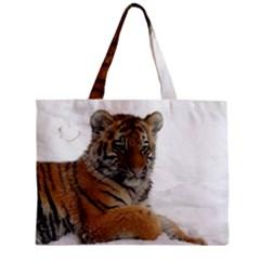 Tiger 2015 0102 Zipper Tiny Tote Bags