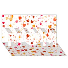 Heart 2014 0604 MOM 3D Greeting Card (8x4)
