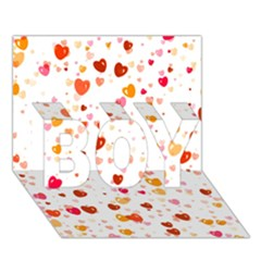 Heart 2014 0604 BOY 3D Greeting Card (7x5)
