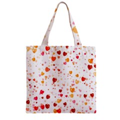 Heart 2014 0604 Zipper Grocery Tote Bags