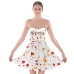 Heart 2014 0604 Strapless Bra Top Dress