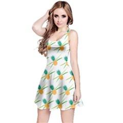 Pineapple Pattern 02 Reversible Sleeveless Dresses