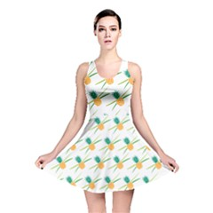 Pineapple Pattern 02 Reversible Skater Dresses
