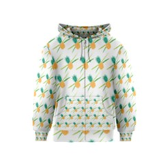 Pineapple Pattern 02 Kids Zipper Hoodies