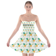Pineapple Pattern 02 Strapless Bra Top Dress