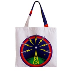 Broadcast Zipper Grocery Tote Bags