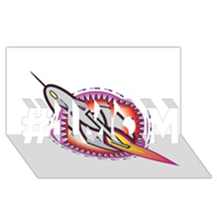 Space Rocket #1 Mom 3d Greeting Cards (8x4)