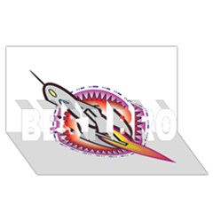 Space Rocket Best Bro 3d Greeting Card (8x4)