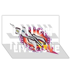 Space Rocket Laugh Live Love 3d Greeting Card (8x4)