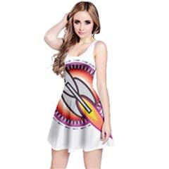Space Rocket Reversible Sleeveless Dresses