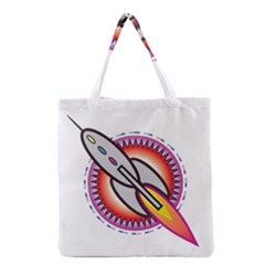 Space Rocket Grocery Tote Bags