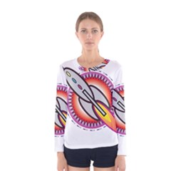 Space Rocket Women s Long Sleeve T-shirts