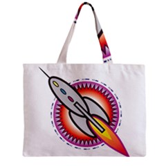 Space Rocket Zipper Tiny Tote Bags