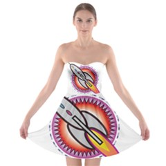 Space Rocket Strapless Bra Top Dress