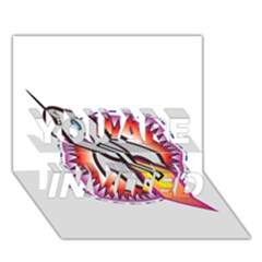 Space Rocket YOU ARE INVITED 3D Greeting Card (7x5)