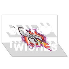 Space Rocket Best Wish 3D Greeting Card (8x4)