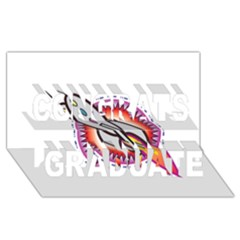 Space Rocket Congrats Graduate 3D Greeting Card (8x4)