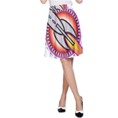 Space Rocket A-Line Skirts