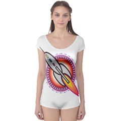 Space Rocket Short Sleeve Leotard