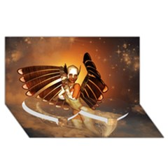 Beautiful Angel In The Sky Twin Heart Bottom 3d Greeting Card (8x4)