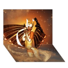 Beautiful Angel In The Sky Apple 3d Greeting Card (7x5)