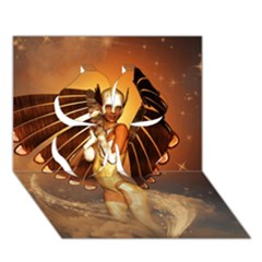 Beautiful Angel In The Sky Clover 3D Greeting Card (7x5)