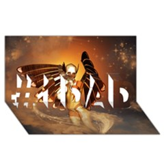 Beautiful Angel In The Sky #1 DAD 3D Greeting Card (8x4)