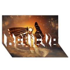 Beautiful Angel In The Sky Believe 3d Greeting Card (8x4)