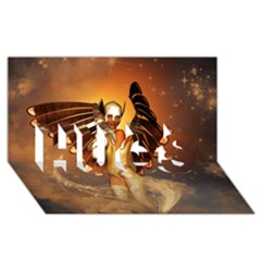Beautiful Angel In The Sky HUGS 3D Greeting Card (8x4)