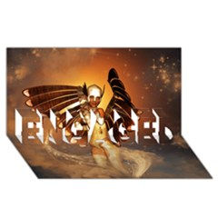 Beautiful Angel In The Sky Engaged 3d Greeting Card (8x4)