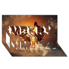 Beautiful Angel In The Sky Merry Xmas 3D Greeting Card (8x4)
