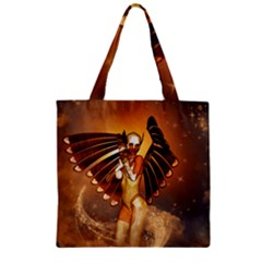 Beautiful Angel In The Sky Zipper Grocery Tote Bags