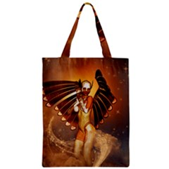 Beautiful Angel In The Sky Zipper Classic Tote Bags