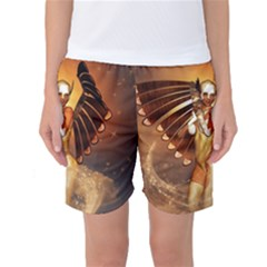 Beautiful Angel In The Sky Women s Basketball Shorts