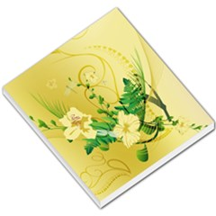 Wonderful Soft Yellow Flowers With Leaves Small Memo Pads