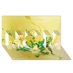 Wonderful Soft Yellow Flowers With Leaves MOM 3D Greeting Card (8x4)