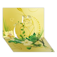 Wonderful Soft Yellow Flowers With Leaves Apple 3d Greeting Card (7x5)