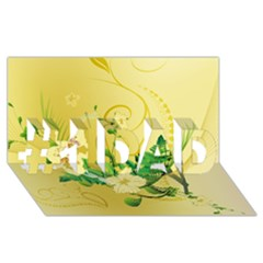 Wonderful Soft Yellow Flowers With Leaves #1 Dad 3d Greeting Card (8x4)