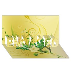 Wonderful Soft Yellow Flowers With Leaves Engaged 3d Greeting Card (8x4)