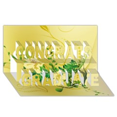 Wonderful Soft Yellow Flowers With Leaves Congrats Graduate 3D Greeting Card (8x4)