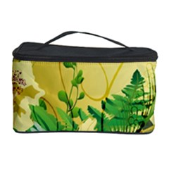 Wonderful Soft Yellow Flowers With Leaves Cosmetic Storage Cases