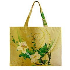 Wonderful Soft Yellow Flowers With Leaves Zipper Tiny Tote Bags
