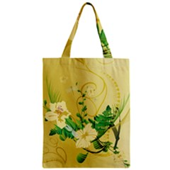 Wonderful Soft Yellow Flowers With Leaves Zipper Classic Tote Bags