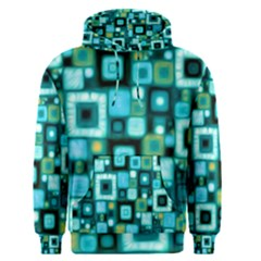Teal Squares Men s Pullover Hoodies