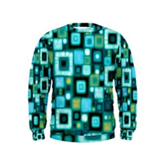 Teal Squares Boys  Sweatshirts
