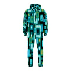 Teal Squares Hooded Jumpsuit (Kids)
