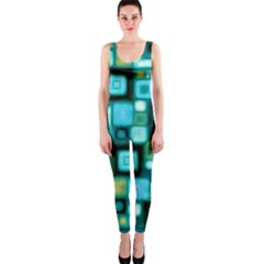 Teal Squares OnePiece Catsuits