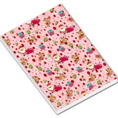 Red Christmas Pattern Large Memo Pads